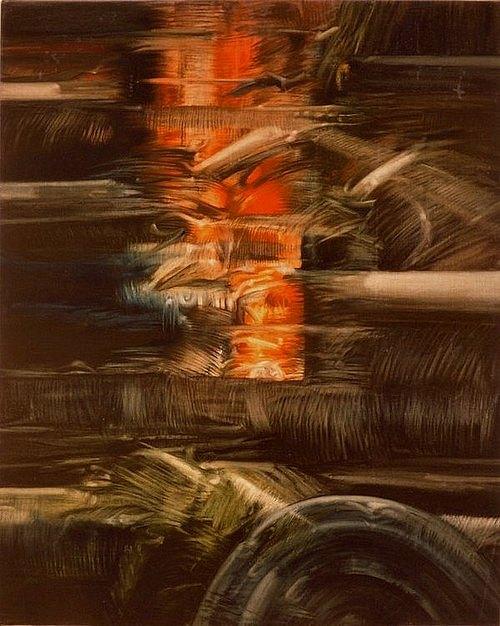 Horizon de cendres I (triptyque gauche) - 1990 - , 116x89