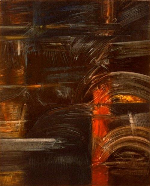 Horizon de cendres III (triptyque centre) - 1990 - 116x89